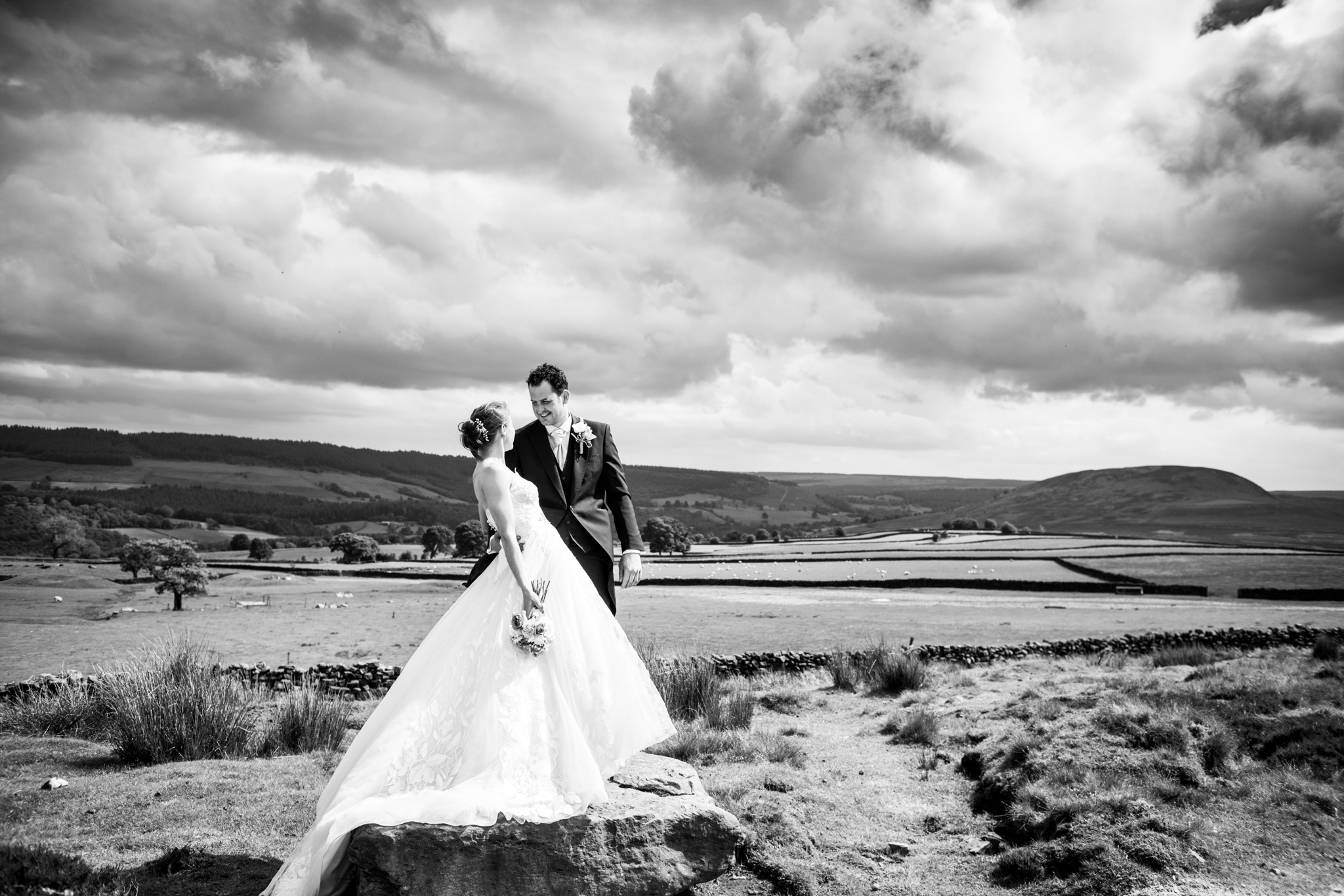 Bride & Groom on North Yorkshire Moores