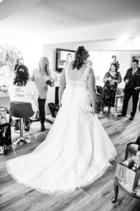 SHowing off the Wedding Dress