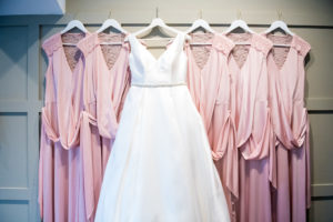 Wedding Dress with Bridesmaids Dresses