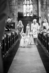 Flower Girls and Bridesmaids Coming down the aisle