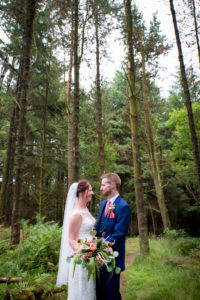 Pine Forest, bride and groom