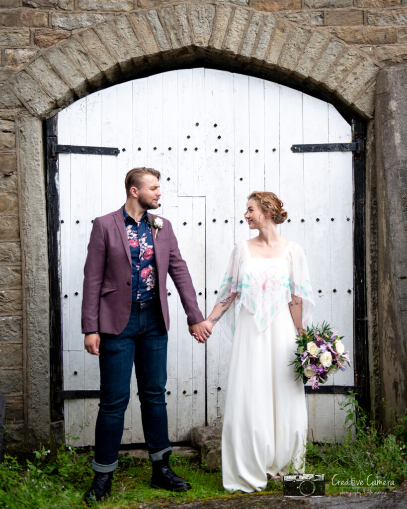 Bride and groom boho at Wellbeing Farm