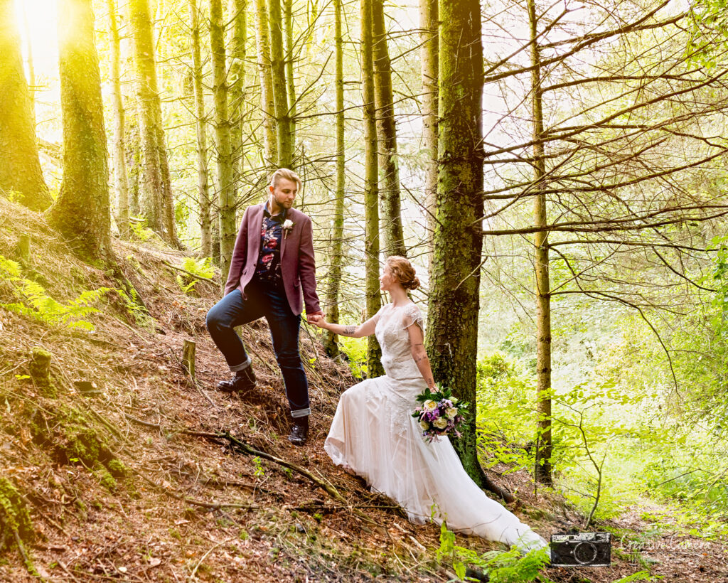 In the Forrest At the Wellbeing Farm. Styled Boho Shoot